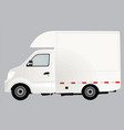 white delivery truck vector image vector image