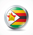 Zimbabwe flag button vector image vector image