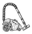 cartoon image of vacuum cleaner vector image