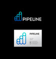 blue pipeline logo vector image