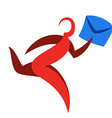 Abstract runner symbol Delivery courier logo vector image