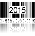 2016 new year on the barcode vector image