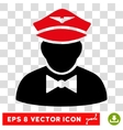 Airline Steward Eps Icon vector image