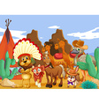 Animals and desert vector image vector image