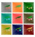 assembly flat shading style christmas tree toys vector image