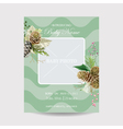 Baby Arrival Card with Photo Frame - Winter Theme vector image vector image