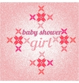 Baby shower for girl pink pastel tones vector image vector image