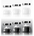 black and white glass cream jar skin care product vector image vector image