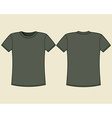 Blank t-shirt template vector image