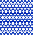 blue six-pointed star pattern vector image vector image