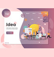 business idea website landing page design vector image vector image