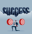 business with weightlifting business target vector image vector image