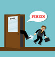 businessman dismissed from work vector image vector image