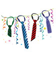 carnival party decoration vector image vector image