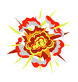 cartoon bomb explosion isolated on white vector image