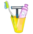 cartoon home washroom vector image vector image