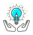 cherish a creative idea - light bulb icon vector image vector image