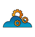 cloud computing gears technology vector image vector image