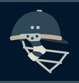 color icon british cricket defense helmet vector image