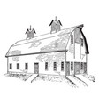 dairy barn agricultural building barn refers vector image vector image