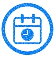 Date And Time Rounded Icon Rubber Stamp vector image vector image