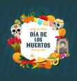 day dead altar with mexican sugar skulls vector image vector image