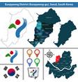 eunpyeong district seoul city south korea vector image vector image
