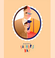 fathers day card son dad before and after photo vector image vector image