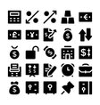 Finance and Money Icons 5 vector image vector image