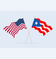 flags usa and puerto-rico together a symbol vector image vector image