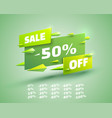 fly banner sale off set collection color green vector image vector image