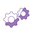 gears machinery piece vector image vector image