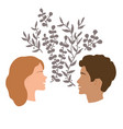 girls and guy talk togetherness and communication vector image vector image