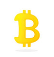 gold bitcoin sign vector image
