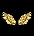 gold polygonal wings vector image vector image