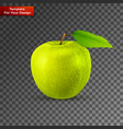 green apple on transparent background vector image