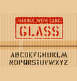 grunge glass box sign on piece cardboard for vector image vector image