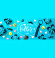 happy fathers day banner with gift boxes yellow vector image vector image
