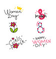 happy womens day design elements vector image
