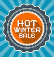 Hot Winter Sale Retro Blue Background vector image vector image