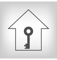 House with key vector image