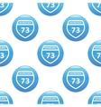 Interstate 73 sign pattern vector image vector image