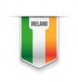 Ireland flag ribbon vector image vector image