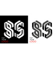 isometric letter s in two perspectives from vector image