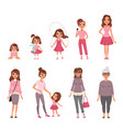 life cycles of woman stages of growing up from vector image vector image