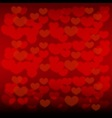 love background with hearts for Valentines day vector image vector image