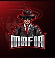 mafia logo mascot gaming design vector image
