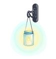 outdoor hanging lantern in retro style isolated on vector image