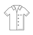 polo shirt line icon vector image