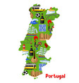 portugal map portuguese national traditional vector image